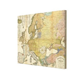 Europe Ethnography Map Canvas Print
