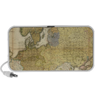 Europe Ethnography Map Portable Speakers
