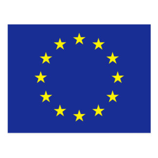Europe EU European flag Postcard