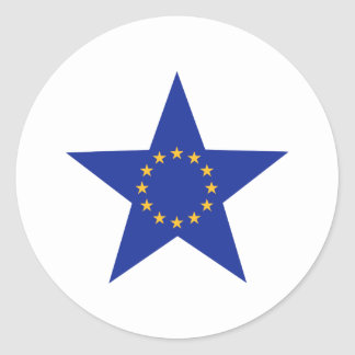 Europe EU star flag Round Sticker