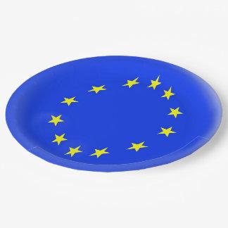 Europe European Flag Stars Nation Euro Paper Plate