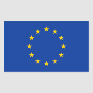 Europe/European Union Flag Rectangular Sticker