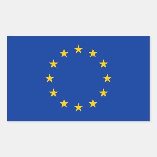 Europe/European Union Flag Rectangular Sticker