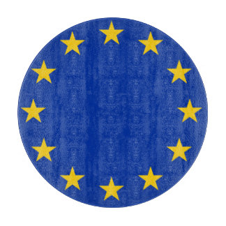 Europe flag cutting board
