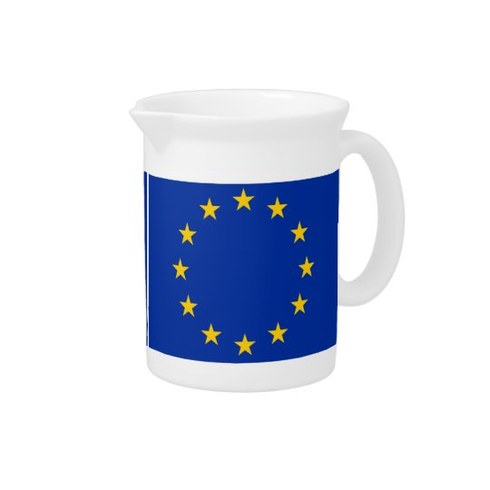 Europe flag drink pitchers
