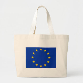 Europe flag large tote bag
