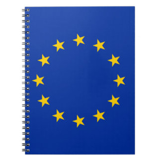 Europe flag notebook