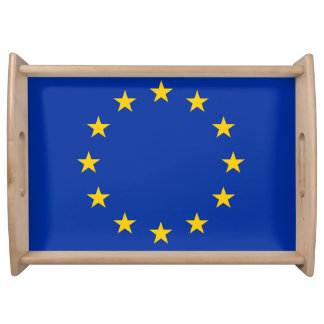 Europe flag serving tray