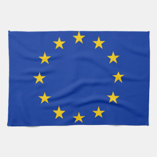 Europe flag tea towel