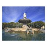 Europe, France, Aix-en-Provence. Fontaine de Photographic Print