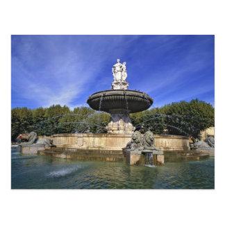 Europe, France, Aix-en-Provence. Fontaine de Postcard