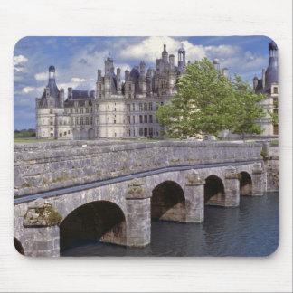 Europe, France, Chambord. A stone bridge leads Mouse Pad