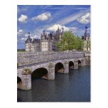 Europe, France, Chambord. A stone bridge leads Postcards