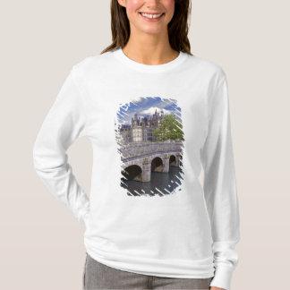 Europe, France, Chambord. A stone bridge leads T-Shirt