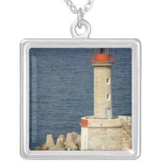 Europe, France, Corsica, Bastia.  Port Silver Plated Necklace