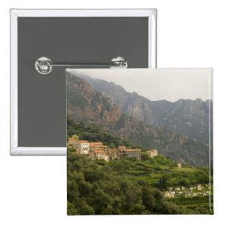Europe, France, Corsica, Ota.  Town of Ota and 15 Cm Square Badge