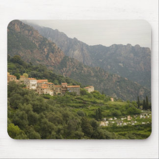Europe, France, Corsica, Ota.  Town of Ota and Mouse Mat