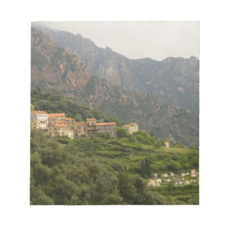 Europe, France, Corsica, Ota.  Town of Ota and Notepad