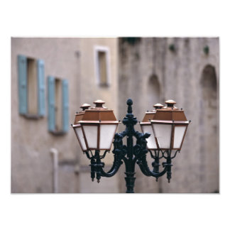 Europe, France, Forcalquier. Old weathered Photographic Print