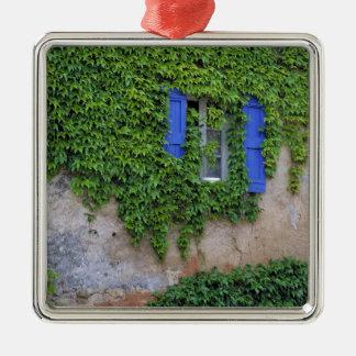 Europe, France, Lourmarin. Cascading ivy Christmas Ornament