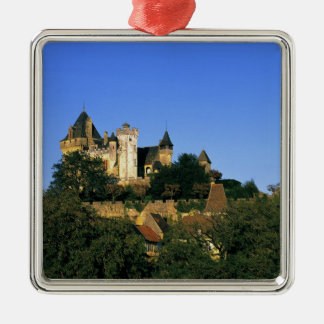 Europe, France, Montforte. The medieval castle Christmas Ornament