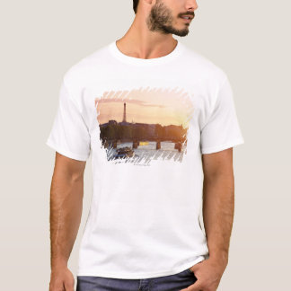 Europe, France, Paris (75), Tourist Boat on T-Shirt