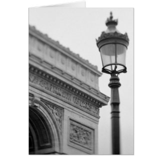 Europe, France, Paris. Arc de Triomphe and Card