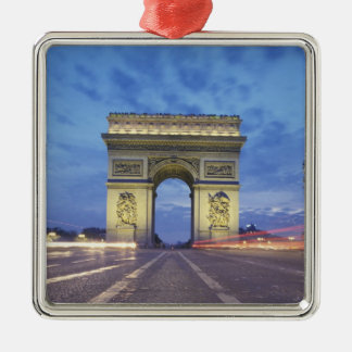 Europe, France, Paris. Arc de Triomphe as viewed Christmas Ornament