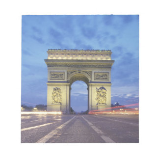 Europe, France, Paris. Arc de Triomphe as viewed Notepad