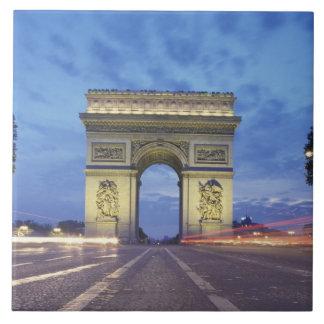 Europe, France, Paris. Arc de Triomphe as viewed Tile