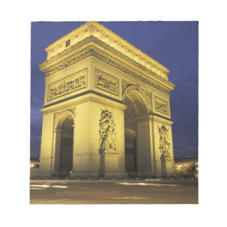 Europe, France, Paris. Arc de Triomphe Notepad