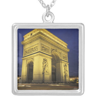 Europe, France, Paris. Arc de Triomphe Silver Plated Necklace