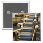 Europe, France, Paris, Beaubourg: Cafe Tables / 15 Cm Square Badge