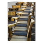 Europe, France, Paris, Beaubourg: Cafe Tables / Greeting Card