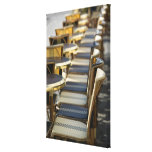 Europe, France, Paris, Beaubourg: Cafe Tables / Gallery Wrap Canvas