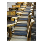 Europe, France, Paris, Beaubourg: Cafe Tables / Postcard