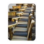 Europe, France, Paris, Beaubourg: Cafe Tables / Rectangular Photo Magnet