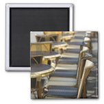 Europe, France, Paris, Beaubourg: Cafe Tables / Square Magnet