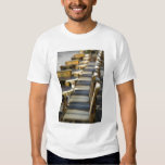 Europe, France, Paris, Beaubourg: Cafe Tables / T Shirt