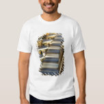 Europe, France, Paris, Beaubourg: Cafe Tables / Tee Shirts