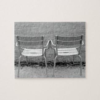 Europe, France, Paris. Chairs, Jardin du 2 Puzzle
