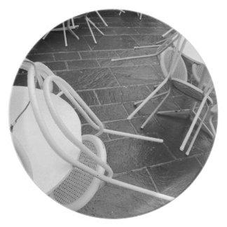Europe, France, Paris. Chairs, Jardin du 4 Plate