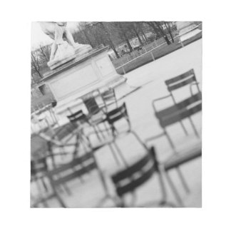 Europe, France, Paris. Chairs, Jardin du Notepad