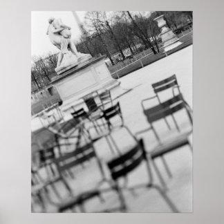 Europe, France, Paris. Chairs, Jardin du Poster