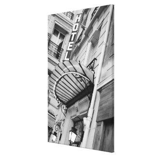 Europe, France, Paris. Detail of Left Bank hotel Canvas Print
