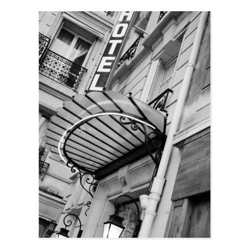 Europe, France, Paris. Detail of Left Bank hotel Postcards