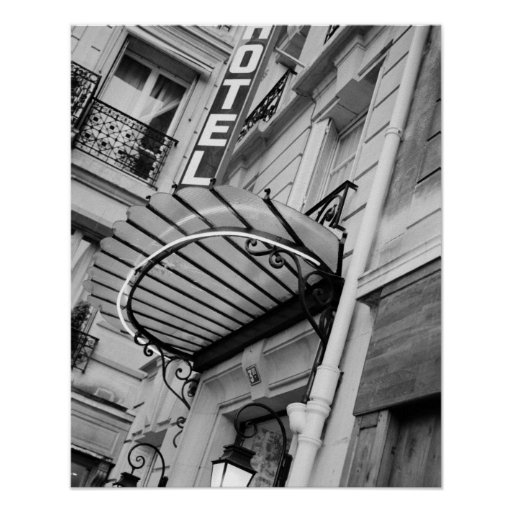 Europe, France, Paris. Detail of Left Bank hotel Print