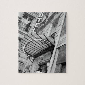 Europe, France, Paris. Detail of Left Bank hotel Puzzle