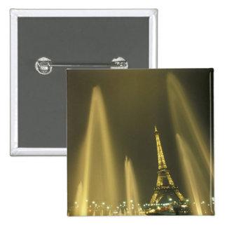 Europe, France, Paris, Eiffel Tower, evening 15 Cm Square Badge