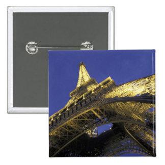 Europe, France, Paris, Eiffel Tower, evening 2 15 Cm Square Badge